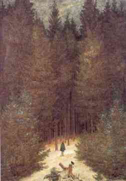 Cazador en el bosque, 1813-14, Gaspar David Friedrich